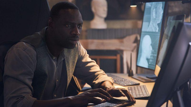 Le personnage de Lupin en photo dans la deuxième partie de la série Netflix